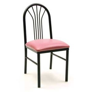 Upholstered Steel Round Tube Frame Chair