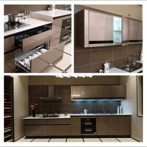 High Gloss Bake Paint Kitchen Cabinet Designs pictures & photos