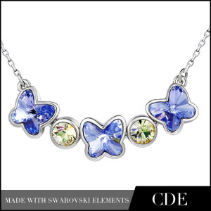 Hot Sale Costume Necklace with Butterfly Crystal (N0213)