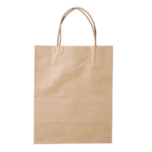 Small Natural Kraft Paper Bag with Handles pictures & photos