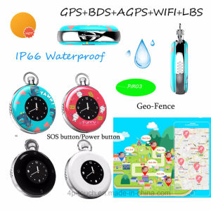 IP66 Waterproof Mini GPS Tracker with Two-Way Time Display Pm03 pictures & photos