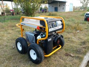7500 Watts Portable Generator Petrol with RCD and 4 X Pneumatic Large Wheels (GP8000SE) pictures & photos