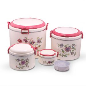 New Flower Design 5PCS Set Food Warmer Container Hot Pot pictures & photos