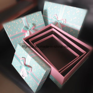 High Quality 3 PCS Set Cardboard Gift Box with Bowknot pictures & photos