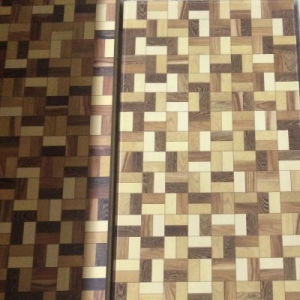 HDF Small Mosaic Parquet Laminate Flooring Engineered Wood Flooring pictures & photos
