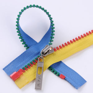 Multi-Colored Plastic Zipper for Sale pictures & photos