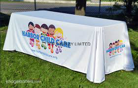 Trade Exhibition Printed Polyester Tablecloth pictures & photos