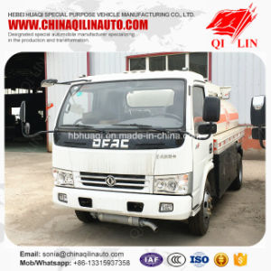 Dongfeng 4X2 Low Price Repertory 5cbm Oil Tank Truck pictures & photos