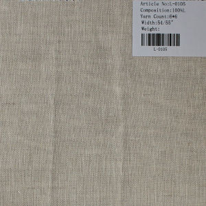 The Pure Linen Fabric L-0105 pictures & photos