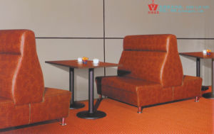 2013 Modern Restaurant Double Side Sofa and Table Set (WP8-6018)