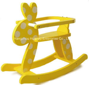 Factory Supply Rocking Horse-Wooden Rabbit Rocker with Safeguard pictures & photos