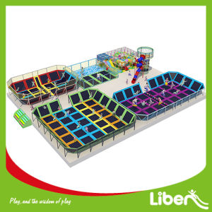 Professional Indoor Square Big Kids Trampolines pictures & photos