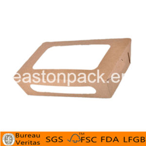 Disposable Take Away Medium Paper Salad Box with Window pictures & photos