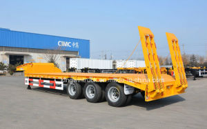 Cimc Brand Three Axles Low Bed Semi Trailer pictures & photos