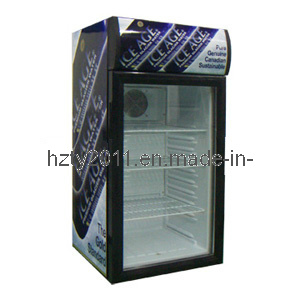 New Portable Refrigerated Display Cooler Food Drink Fridge Sc-80h pictures & photos