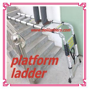 3 Position Telescopic Ladder /Aluminum Step Ladder 3.2m/3.8m/4.4m/5m pictures & photos
