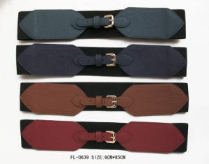 Classic Elastic Belt with Gold Buckle (FL-0639) pictures & photos