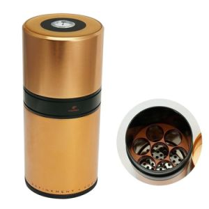 Cohiba Stainless Copper Cylinder Hold 7 Cigar Humidor Tube Holder with Humidifier (ES-EB-015) pictures & photos