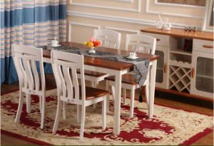 Solidwood Dining Furniture Rectangular Table and Chairs Set