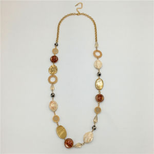 Multi Color Resin Sweater Necklace Jewelry pictures & photos