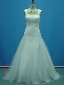 Real Made Sample off Shoulder Lace Beaded Wedding Dresses (WD0073) pictures & photos