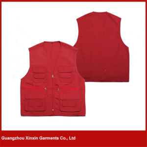 Guangzhou Factory Wholesale Cheap Cotton Polyester Stock Vest (V18) pictures & photos
