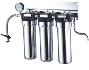 Stainless Steel Water Filter with Pressure Guage (RY-SS-6) pictures & photos