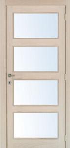 4 Panel Glass Door, Solid Wood Sticking Interior Doors pictures & photos