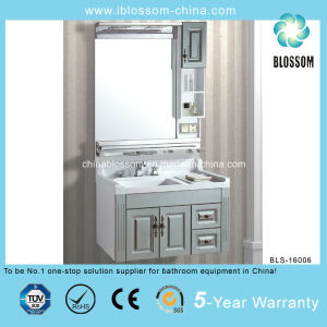 4mm Sliver Mirror with Side Cabinet Bathroom Vanity (BLS-16006) pictures & photos
