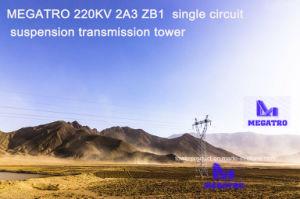 Megatro 220kv 2A3 Zb2 Single Circuit Suspension Transmission Tower pictures & photos