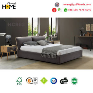 2017 Wooden Fabric Bed for Livingroom/Home/Bedroom (HC862C) pictures & photos