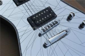 Hanhai Music / White Electric Guitar with Broken Mirror Veneer pictures & photos