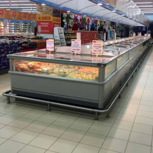 Double Island Freezer for Frozen Food, Fan Cooling Freezer pictures & photos