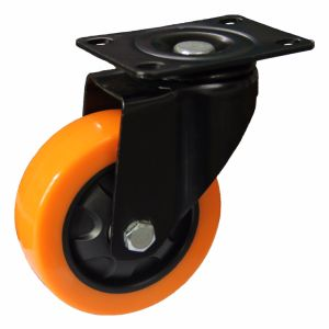 4/5 Inch Orange Color PU Swivel Caster Wheel for Trolley pictures & photos
