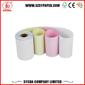 Customized 63G Carbonless NCR Paper Rolls for Bank Use pictures & photos