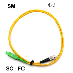 Sc/FC φ 3 Fiber Optic Patch Cords in Various pictures & photos