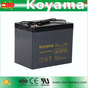 DC85-12 12V85ah Deep Cycle Lead Acid AGM for Floor Washer pictures & photos
