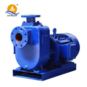 Centrifugal Skid Mounted with Trailer Diesel Self Priming Sewage Pump pictures & photos