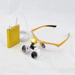 Dental LED Head Light Lamp with Dental Binocular Loupes-Alisa pictures & photos