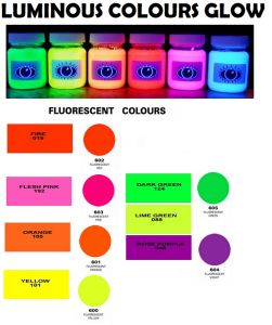 Fluorescent Colors Glowing in The Dark Powder Coating pictures & photos