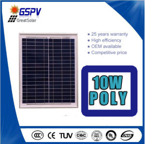 10W Poly Solar Panels Use for Mini Solar Power System pictures & photos
