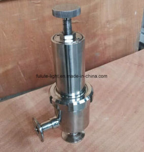 Food Grade Stainless Steel Sanitary Safety Pressure Relief Valve pictures & photos