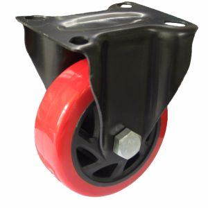 """4""""/5"""" Inch Red PU Swivel Caster for Hand Truck with E-Coating Bracket pictures & photos"""