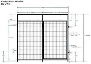 Mesh Panel with Door - Kennel