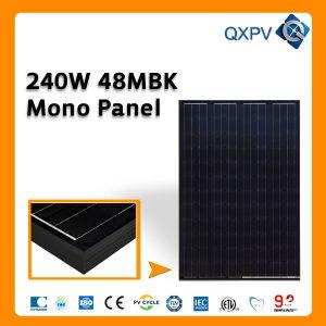 48V 240W Black Mono PV Solar Panel pictures & photos