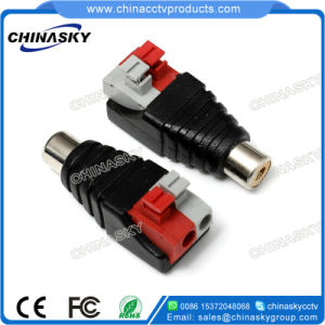 CCTV Female RCA Connector with Screwless Terminal (RC103) pictures & photos