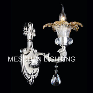Chromed Wall Sconces with Crystal