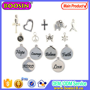Fashion Custom Jewelry Tag Metal Logo Charm for Bracelet pictures & photos