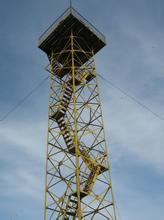 25m Height Steel Angle Guard Tower