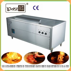 Japanese Electric Stainless Steel Teppanyaki machine for Fast Food Cooking pictures & photos